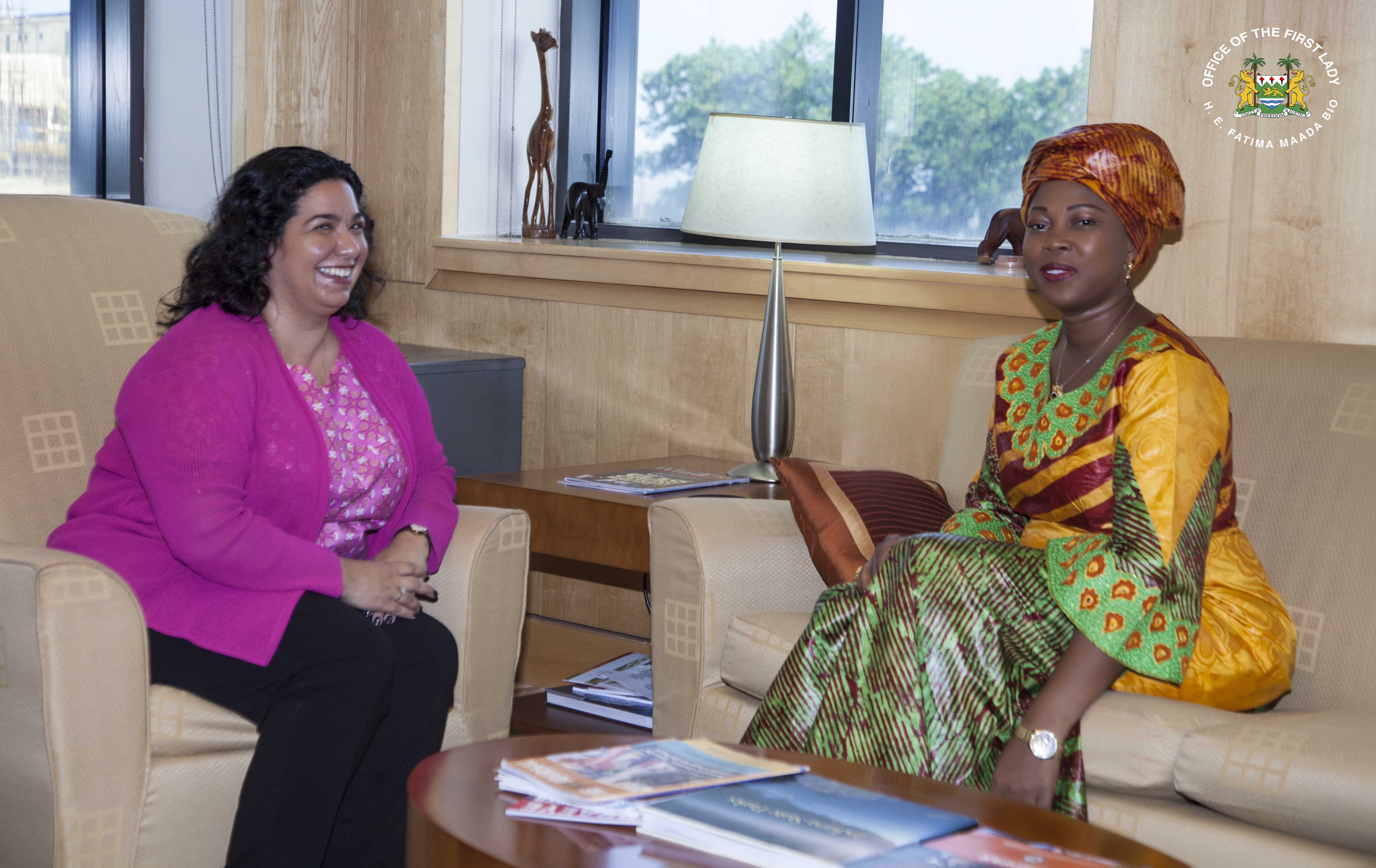 First Lady Meets with U.S. Ambassador to Sierra Leone