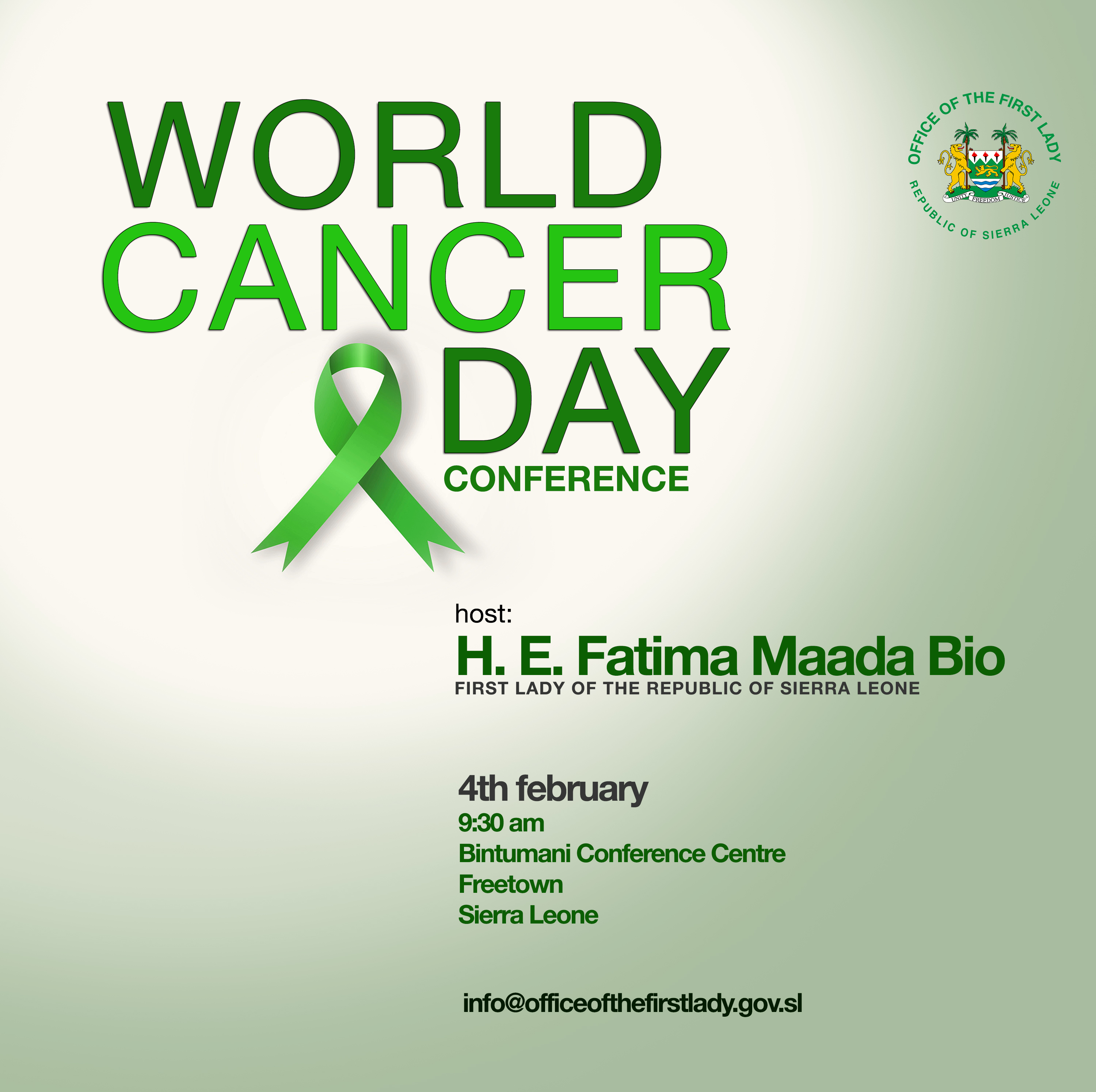 World Cancer Day Conference . 4th Feb in Freetown Sierra Leone.