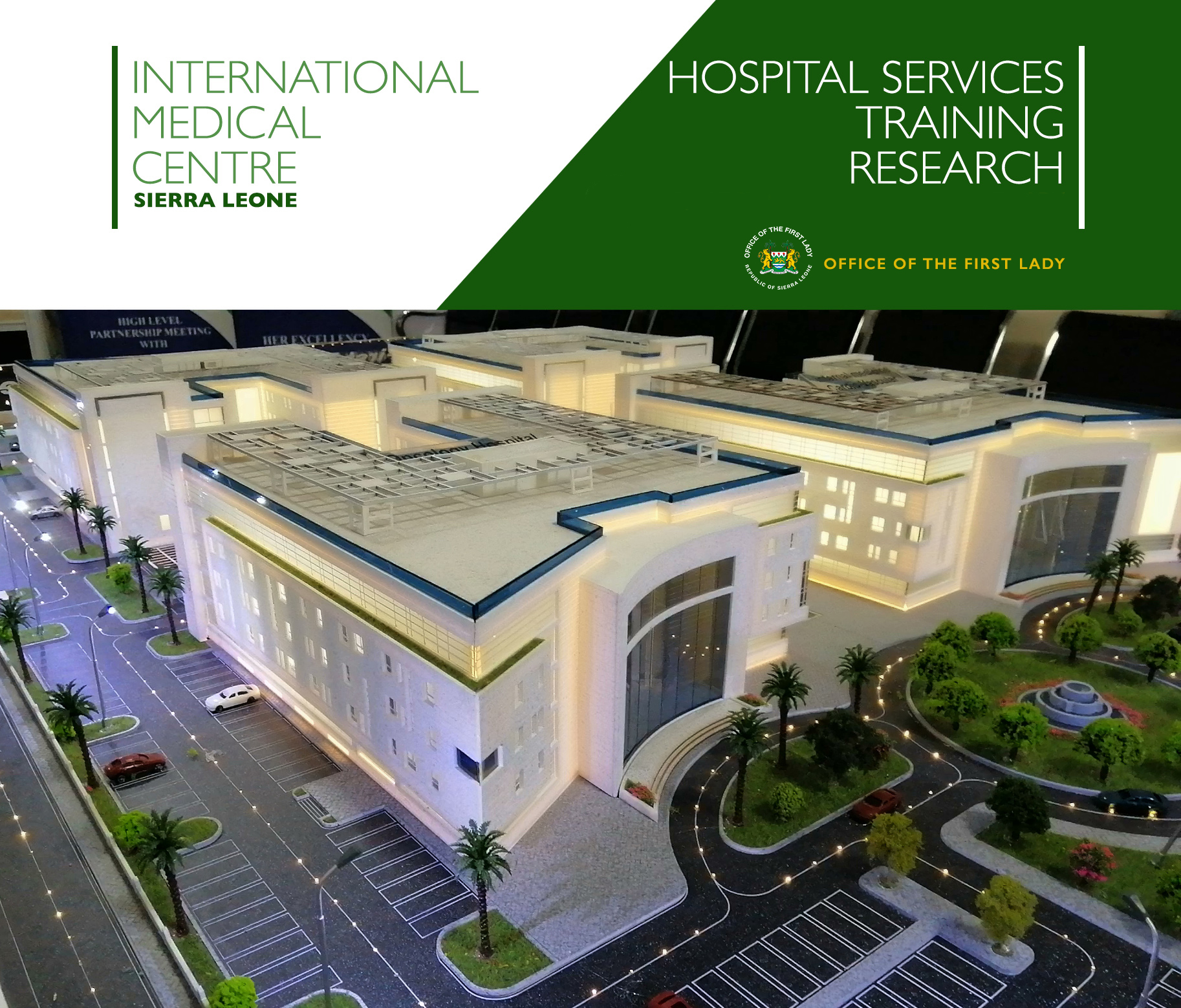 First Lady unveil International Medical Centre
